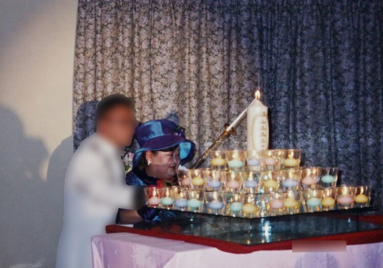 赤堀恵美子結婚式画像