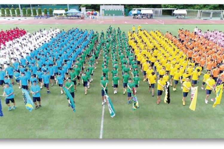明大中野八王子の体育祭風景