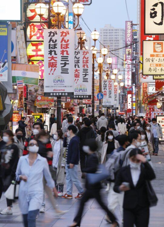 コロナウイルスが猛威を振るっている大阪(時事通信フォト)