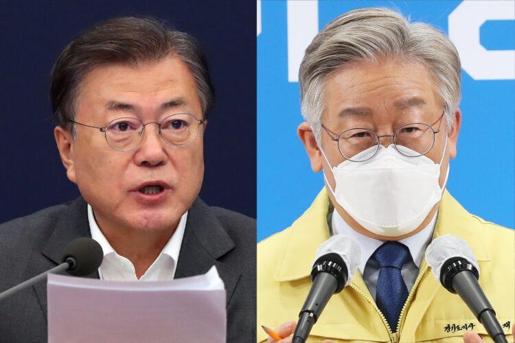 文在寅・大統領、李在明・京畿道知事
