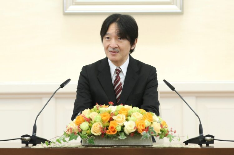 秋篠宮皇嗣(時事通信フォト)