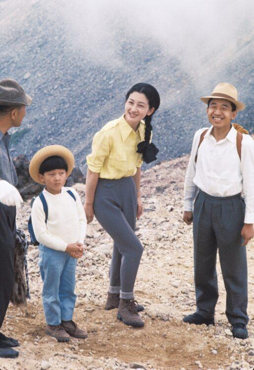 1967年の夏、陛下は乗鞍岳に初めて登られた