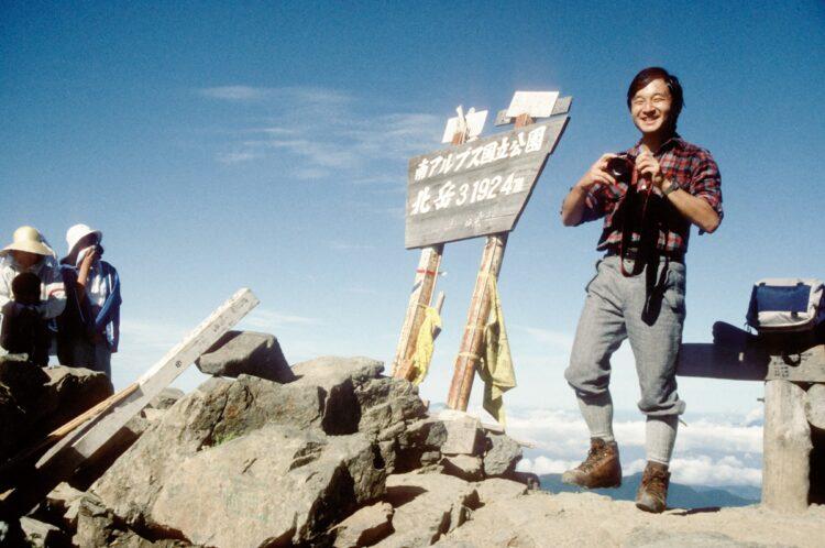 1987年8月、2泊3日で白峰三山を縦走された(写真/時事通信社)