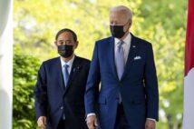 日本は台湾有事でどう動けるか?(写真は日米首脳会談/EPA=時事)