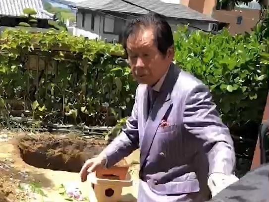 愛犬の葬儀をした野崎氏