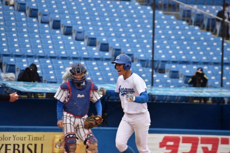 鮮烈なデビューを果たした青学・佐々木泰選手(写真提供/青山学院大学硬式野球部)