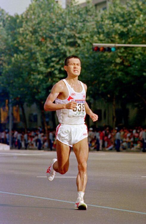 マラソン走者として瀬古は驚異的な成績を残した(時事)