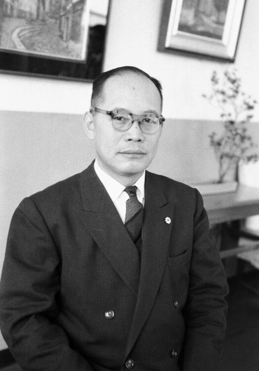 """""""ミスター通産省""""と呼ばれた佐橋滋(時事通信フォト)"""