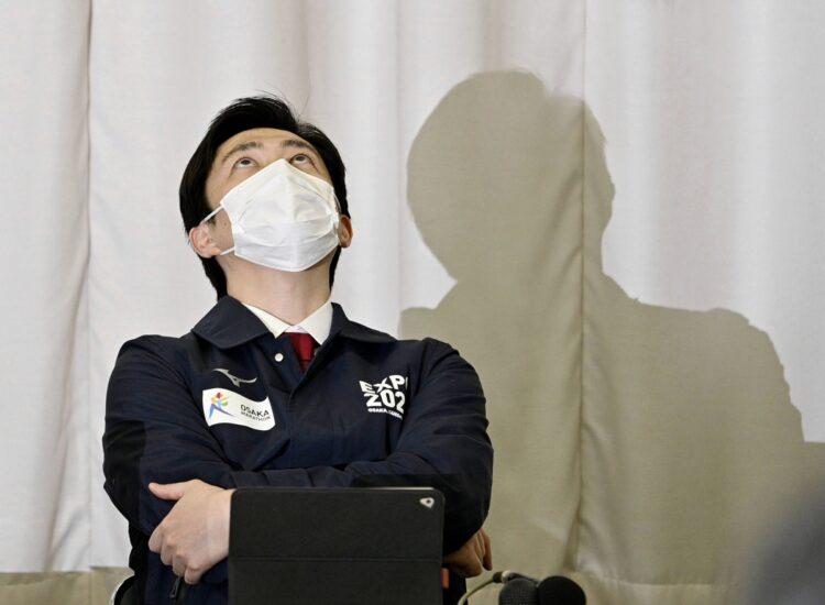 吉村洋文・府知事への厳しい声が相次ぐ(写真/共同通信社)