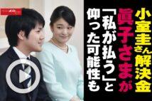 【動画】小室圭さん解決金 眞子さまが「私が払う」と仰った可能性も