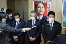 自民党に戻るのか?(左から大塚、松本、田野瀬。時事通信フォト)