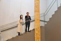 『灌頂幡(模造)』。平成11(1999)年。※法隆寺宝物館、第1室にて通年展示。飛鳥時代・7世紀の灌頂幡のレプリカ。展示の模造品は全長5㍍だが、実際は全長10㍍にも及んだ