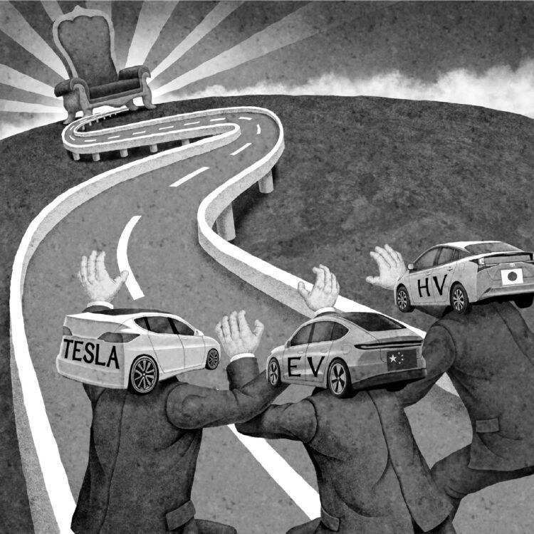 15年後の自動車市場はどうなる?(イラスト/井川泰年)