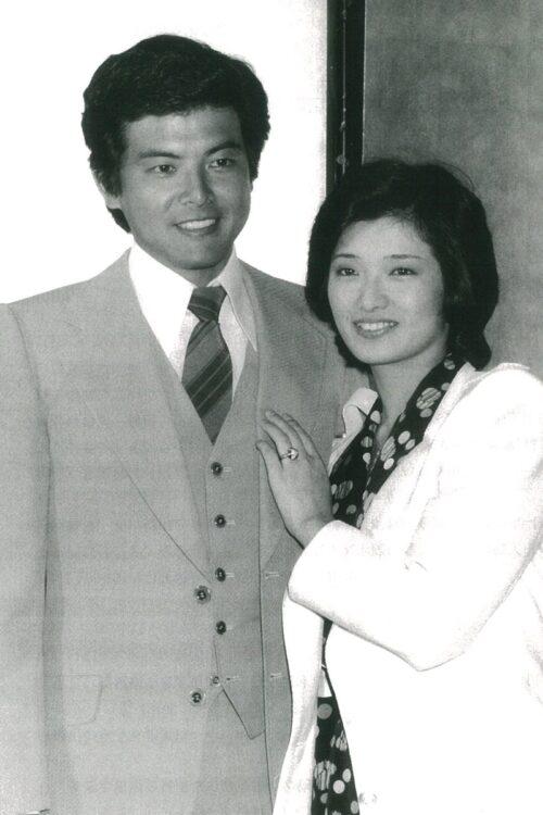 ドラマ『赤い』シリーズで共演した三浦友和と山口百恵