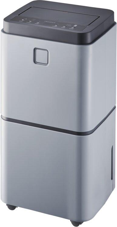 湿った空気を吸い込み乾いた空気を送り出すコンプレッサー式除湿器