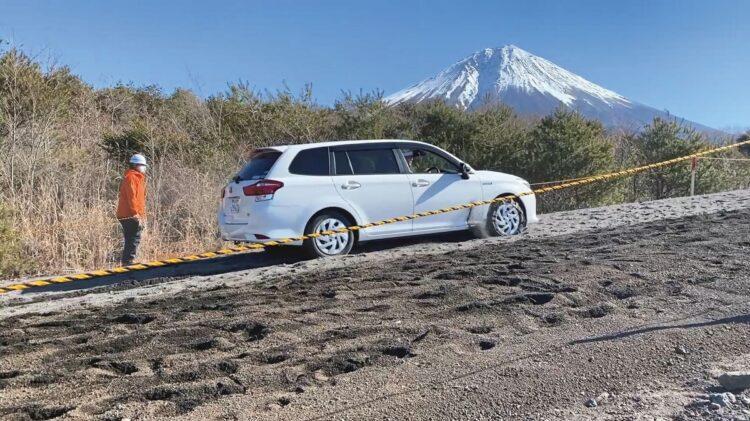 富士砂防事務所が今年4月に実施した走行実験