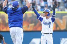 6月6日の試合ではサヨナラのタイムリー二塁打を放った大和(時事通信フォト)
