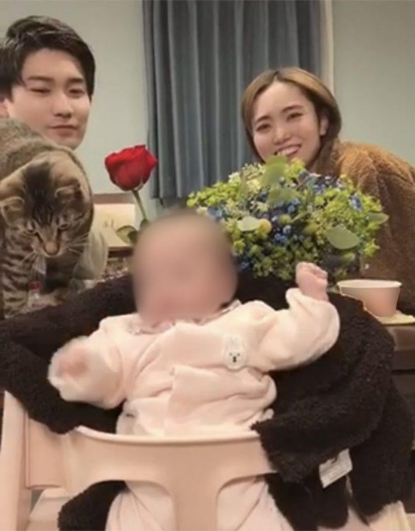 """結婚記念日に家族""""4人""""で(2020年12月)"""
