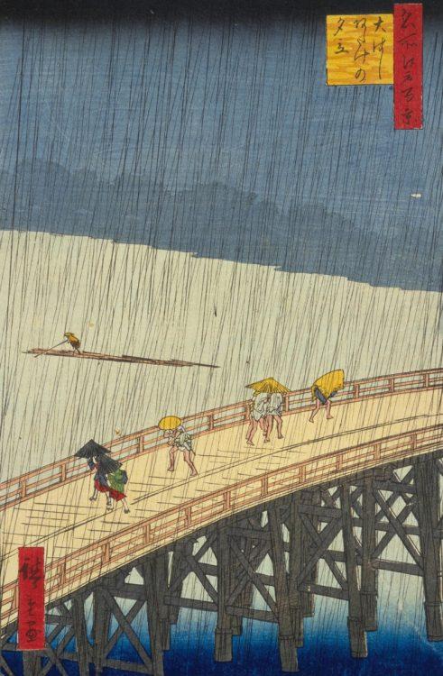歌川広重『名所江戸百景 大はしあたけの夕立』1857年(写真/国立国会図書館)