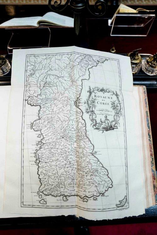 今回見つかった古地図(EPA=時事)