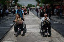 中国で超高齢化社会が進む(写真/AFP=時事)