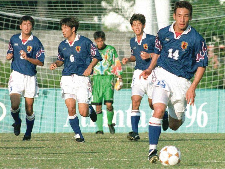 1996年アトランタ五輪、サッカーのユニフォーム(写真/共同通信社)