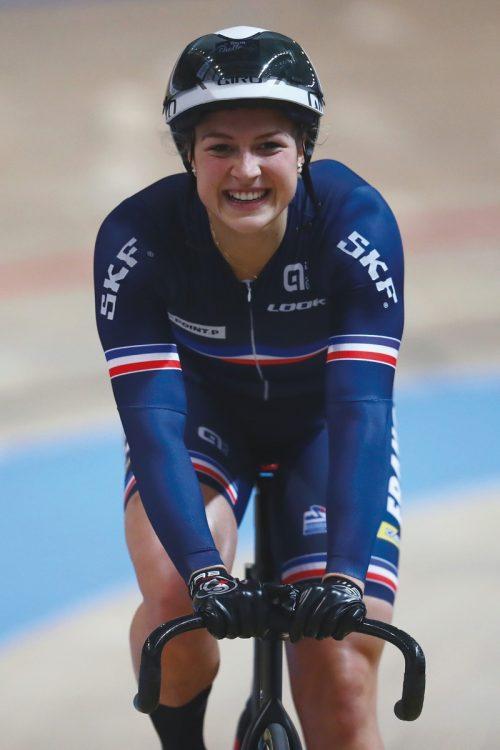 自転車競技・女子スプリント フランスのマチルド・グロ(写真/Dean Mouhtaropoulos/Getty Images)