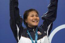2000年シドニー五輪の競泳で銀メダルを獲得した田島寧子さん(時事通信フォト)