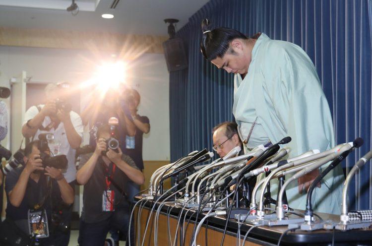 2019年9月、貴ノ富士が新弟子に暴力を振るい、暴言を吐いた(時事通信フォト)
