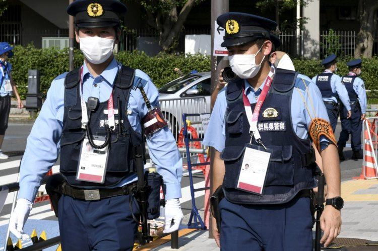 全国から東京五輪のために警察官が応援上京している(Lehtikuva/時事通信フォト)