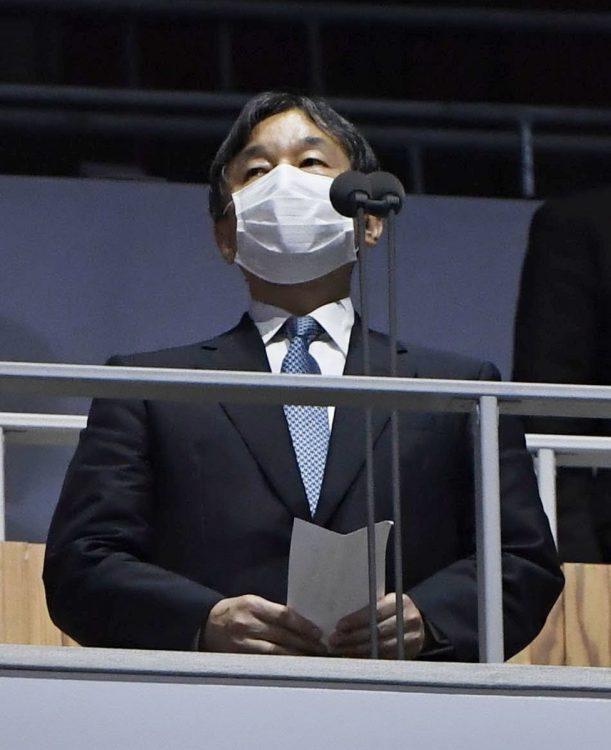 開会宣言の文言変更の裏には、陛下の強いご意向があったのだろう(7月、東京・新宿区=共同通信社)