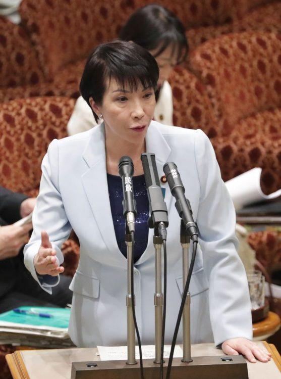 総裁選出馬への意欲を表明する高市早苗氏(時事通信フォト)