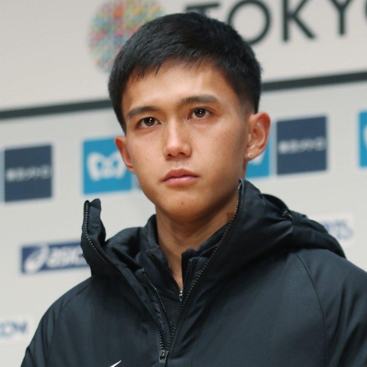 「東京五輪を競技人生の最高のゴールにする」と話した(時事通信フォト)