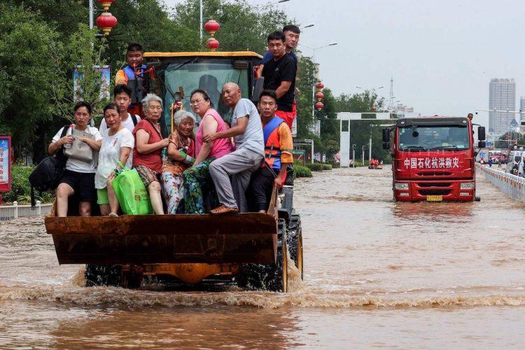 河南省を襲った7月の洪水被害は広範囲に及んだ(AFP=時事)