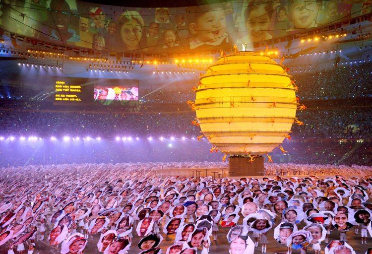 2008年の北京五輪開会式も力を入れていた(写真/共同通信社)