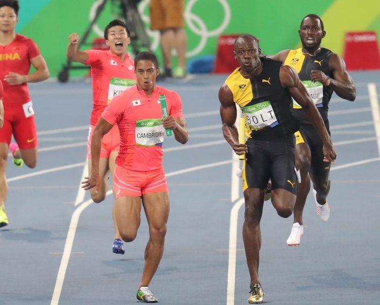 ボルトと腕が触れるほどのアグレッシブなレースで銀になったリオ五輪時