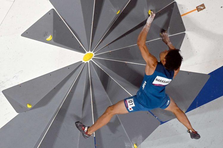 韓国で問題視された五輪スポーツクライミングの壁(時事通信フォト)