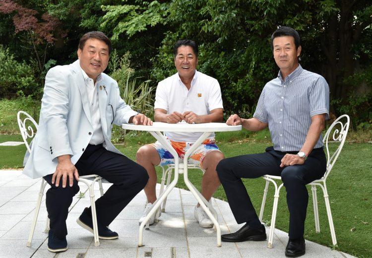 阪神のV戦士OBが阪神優勝の条件を語る(左から広澤克実氏、中西清起氏、八木裕氏。撮影/杉原照夫)