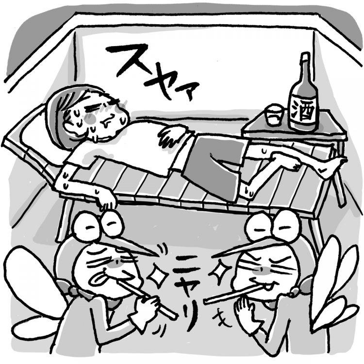 蚊に刺されやすい人は存在する