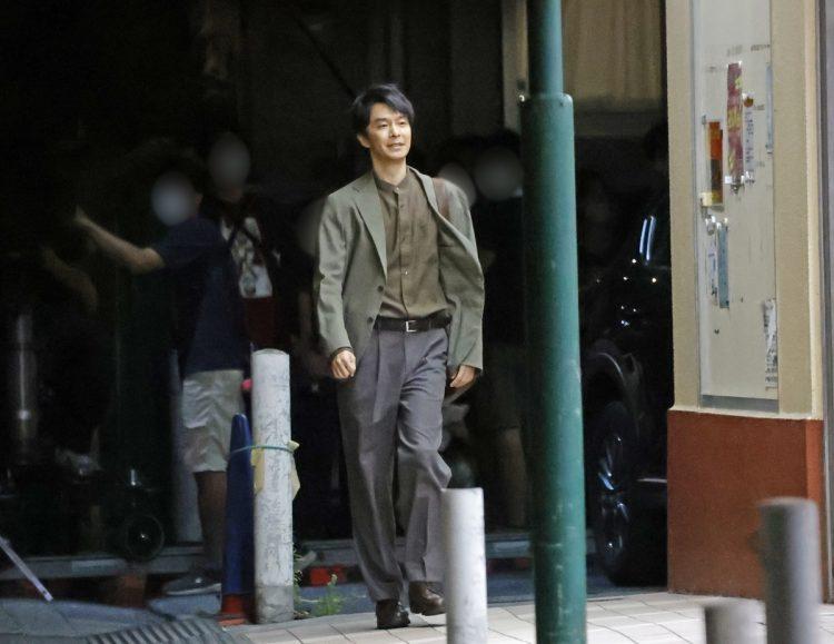 8月上旬、新作映画の撮影に挑む長谷川