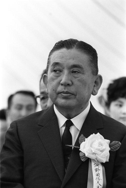 農林大臣、建設大臣などを歴任し河野一郎氏(時事通信フォト)