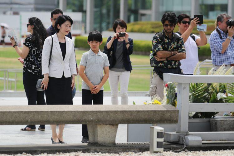 広島県の平和記念公園にて