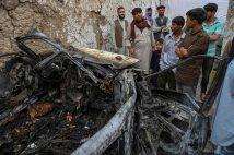 爆撃を受けた首都カブール(写真/AFP=時事)
