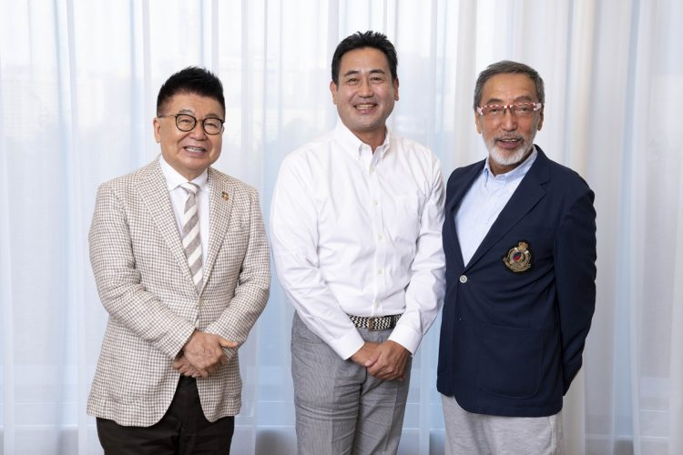 座談会に参加した(右から)テリー伊藤氏、永島敏行氏 、生島ヒロシ氏