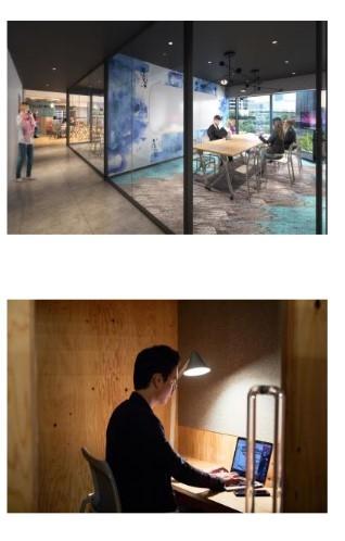 三井不動産レジデンシャルが「パークタワー勝どき」の共用施設に設置予定の会議室、個室ブース(同社プレスリリースより)