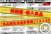 【動画】韓国産・輸入食品「食品衛生法違反事例」リスト52