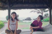浅田さんと樹木さんが旅行したバリ島での一枚