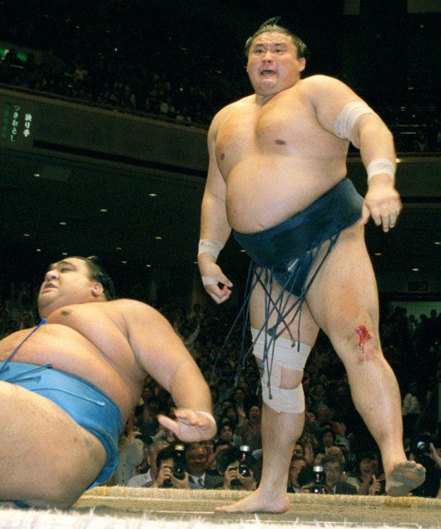 貴乃花氏が「理想の横綱」として仰ぎ見た力士は?(写真は2001年5月場所/共同通信社)