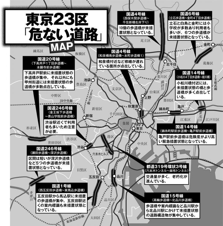 東京23区「危ない道路」