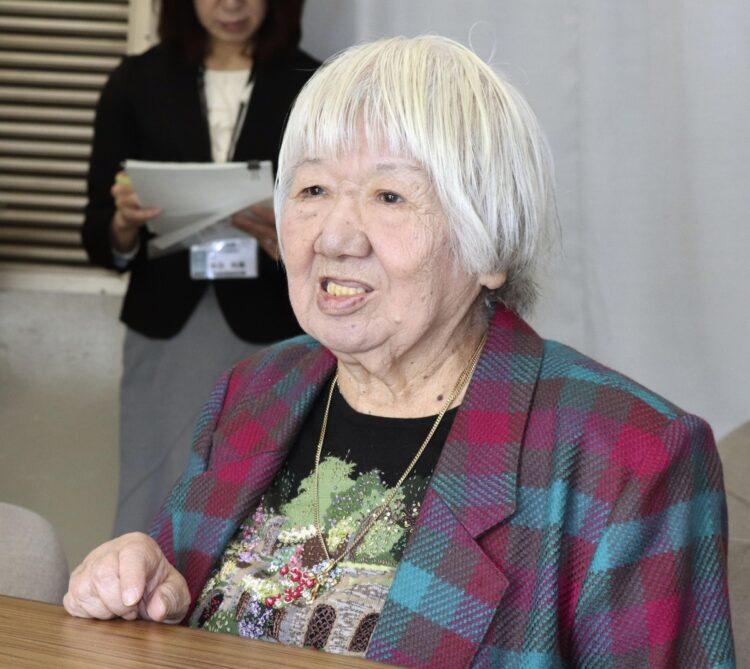 日本最高齢の女性映画監督・山田火砂子さん(写真/共同通信社)